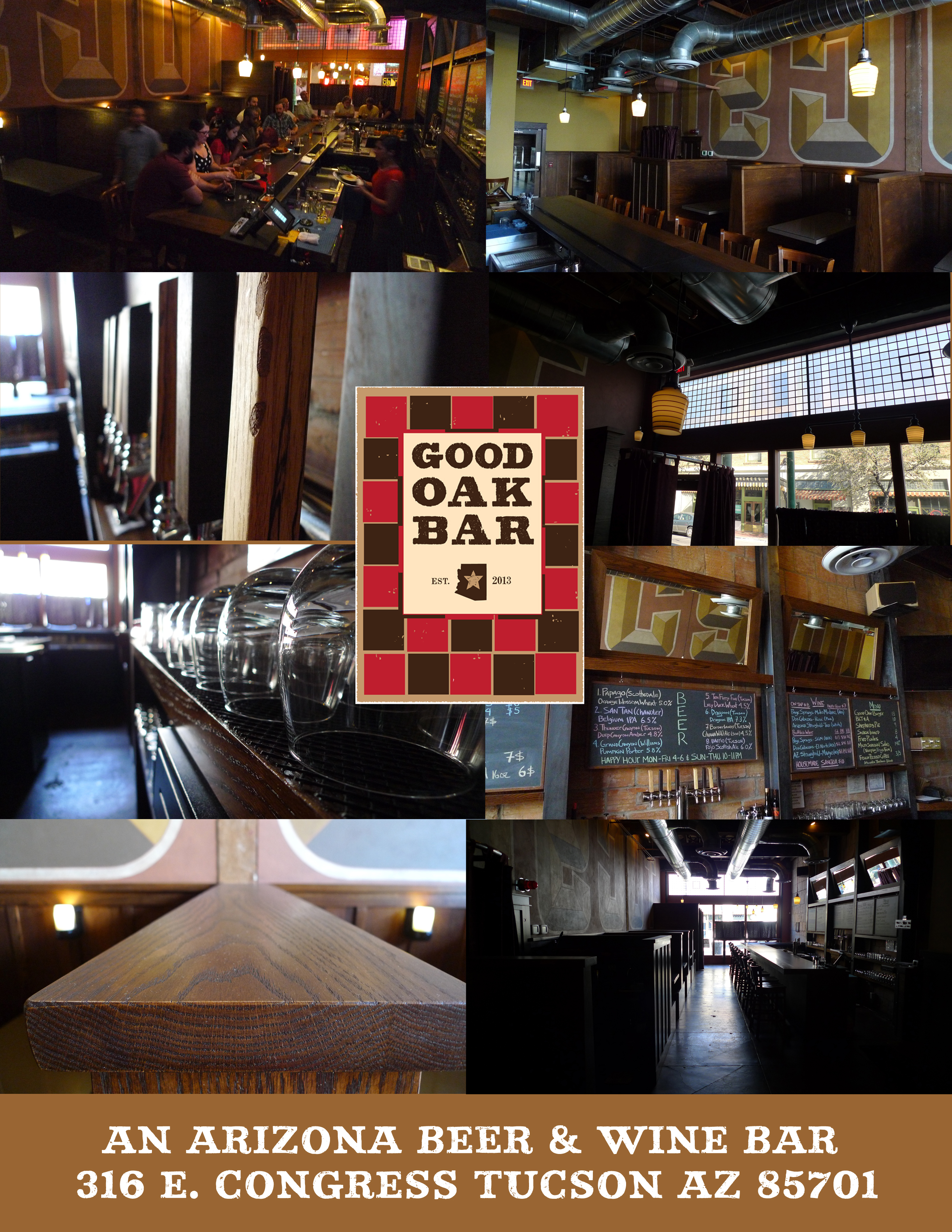 tucscon good oak bar collage
