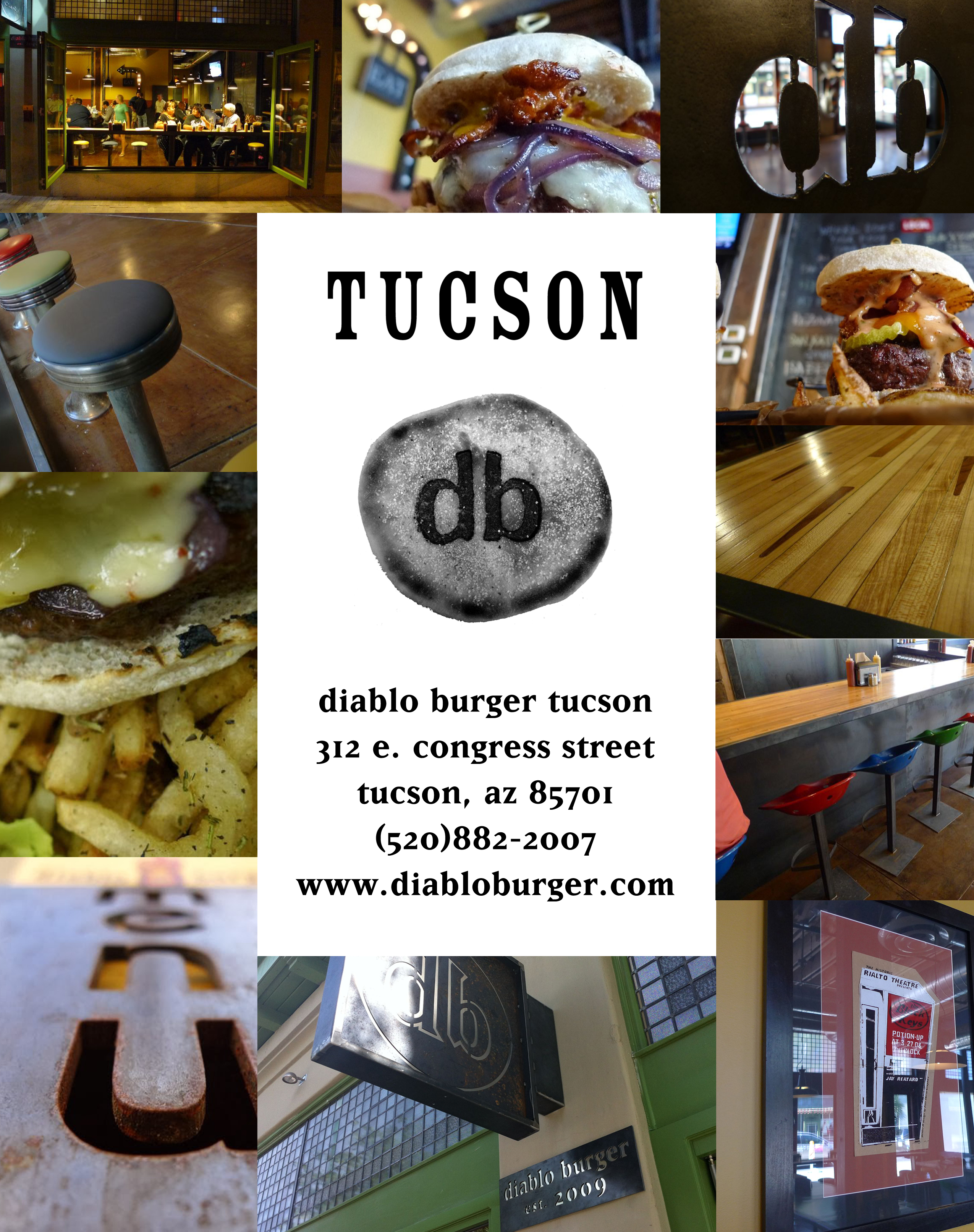 tucscon diablo burger collage